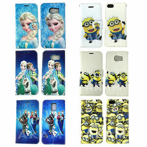 Despicable-Me-MINION-frozen-LIBRO-Funda-tipo-cartera-IPHONE-6s-6-5c-5