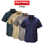 Mens-Hard-Yakka-Cotton-Drill-Work-Shirt-2PK-Button-Short-Sleeve-Workwear-Y07510 thumbnail 1