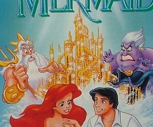 The-Little-Mermaid-Out-Of-Print-Controversial-Cover-Rare-1st-Label-Disney-VHS