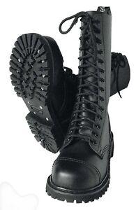 Details zu 14 Loch Stiefel Springerstiefel Kampfstiefel Army Boots Rangers Leder BW 10 44