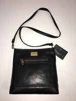 $150 Tignanello Black Leather Convertible Crossbody Function Purse Rfid