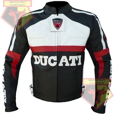 Ducati 3039 Black Motorbike Motorcycle Bikers Cowhide Leather Armoured Jacket Attractive And Durable Apparel & Merchandise Ebay Motors