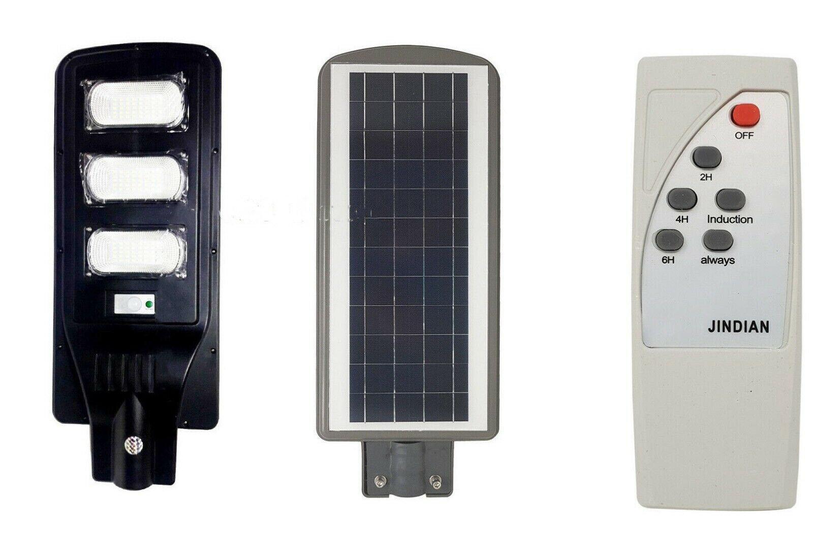 Faro led lampione stradale 90w pannello solare crepuscolare +telecomando FO-5990