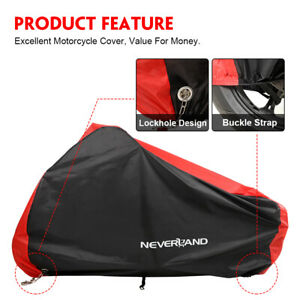 XL-Red-Motorcycle-Cover-Waterproof-Rain-Dust-Sun-Protector-For-Honda-Yamaha-AU