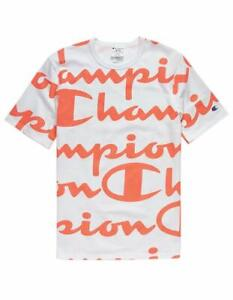 over Logo wit shirt Script All Champion Coral T HCqpc