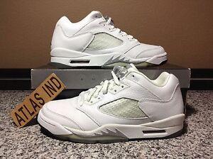 c78ddec7d28d AIR JORDAN 5 RETRO LOW White Metallic Silver Nike V 1 3 4 6 11 12 ...