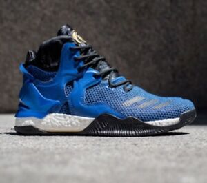54b3e4e42 adidas D Rose 7 Boost Mens Sz 7 Basketball Shoes Black Blue Orlando ...