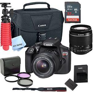 New Canon Rebel T6 SLR Camera Premium Kit w/ 18-55 Lens, bag,...