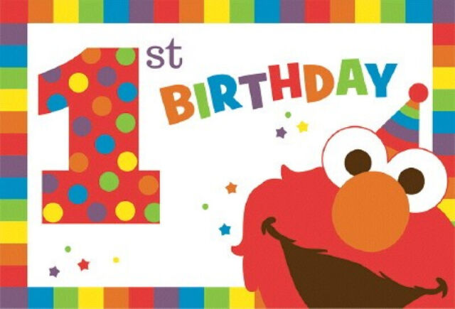 Party Supplies Sesame Street 1st First Birthday Elmo One Invitations Pk 8