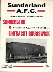 05.08.1970 Sunderland A.F.C. - Eintracht Braunschweig