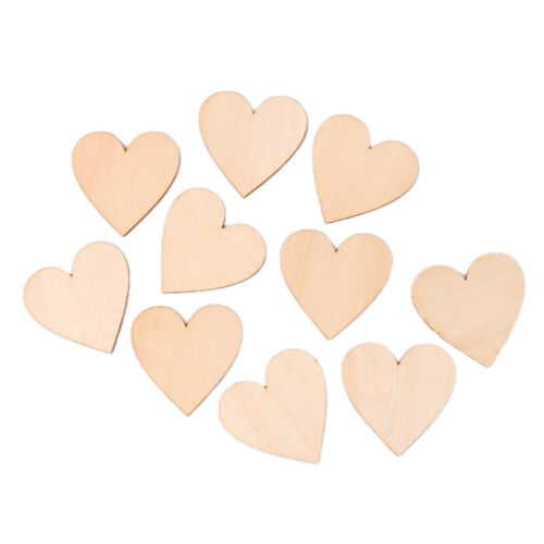 20x Big Wooden Shape Blank Wood Heart Art Craft Scrapbooking DIY Card Making