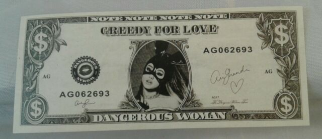 Ariana Grande Dangerous Woman Tour Concert Dollar Money Prop Confetti