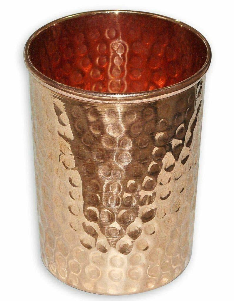 Buddha4all Handmade HandCraft HandCraft HandCraft pure copper glass cup for water Copper Tumbler Set 3040c4