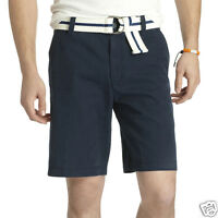 Izod Midnight Blue Flat-front Saltwater Shorts Msrp $50 Sizes 30, 38, 40
