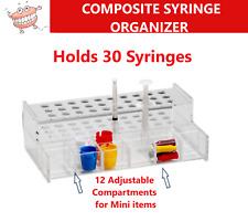 Dental Composite Organizer Amp Etch Syringe Holder Holds 30 Syringes 12 Pockets