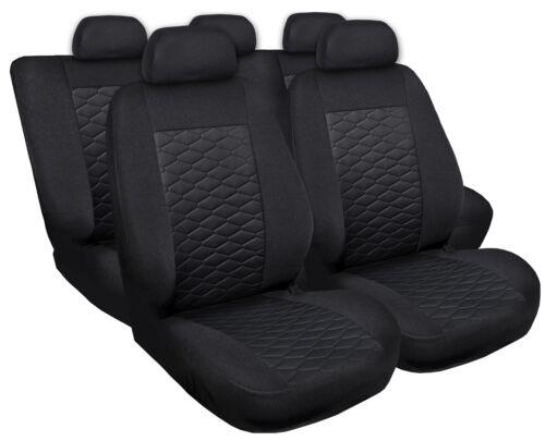Sitzbezüge Sitzbezug Schonbezüge für Renault Megane Schwarz Modern MP-1 Set