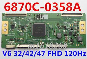 Original 6870C-0358A T-CON board MODEL: V6 32/42/47 FHD 120Hz 6870C