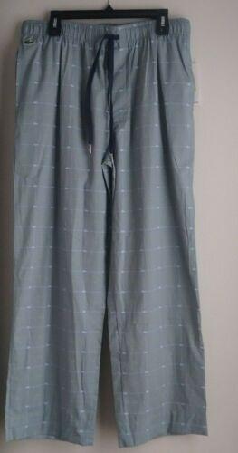 Lacoste Men's Sleepwear Pajama Pants Cotton Crocodile Print Logo S M L XL