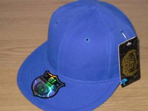 b5a11ef975f Image is loading BRAND-NEW-PLAIN-FITTED-CAP-HAT-FLAT-PEAK-