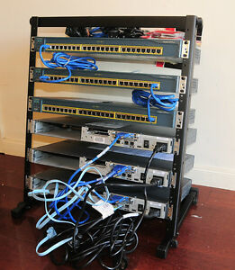 CCNA-Cisco-Lab-Kit-CISCO2610XM-WS-C2950-24-WIC-2A-S-12U-Rack-Stand-CCNP-6Mth