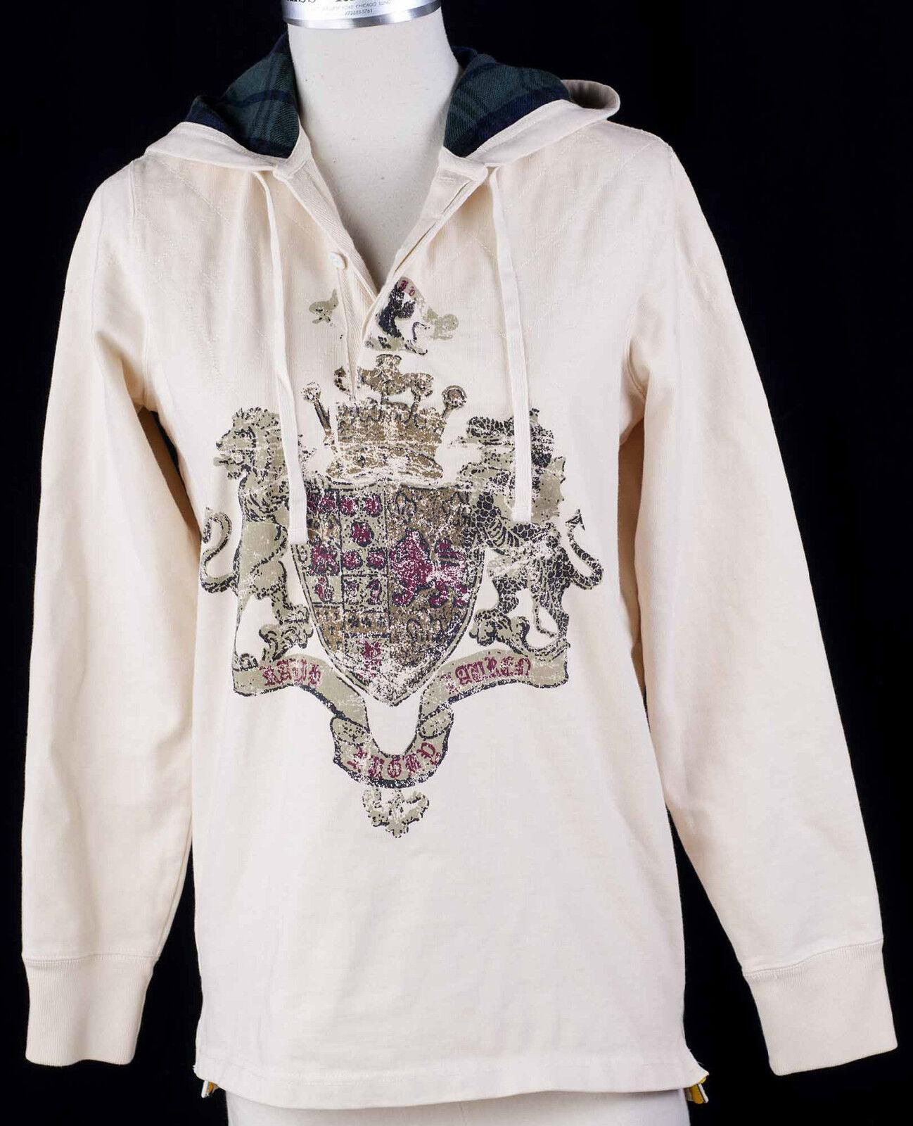 Ralph Lauren RUGBY Hoodie Large Crest Relaxed Fit  Herren Shirt Sz M
