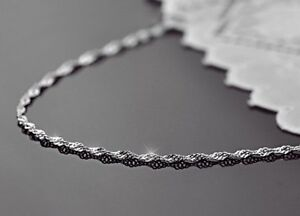 Wave-Chain-Necklace-1-8mm-Sterling-Silver-16-034-to-30-034-Made-in-Italy-GT