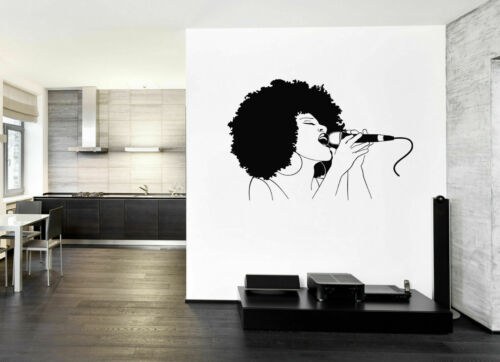 ik152 Wall Decal Sticker Decor jazz singer music microphone song interior