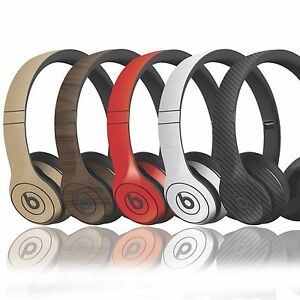 Details about Textured Skin Sticker For Dre Beats Solo 1 - 2 & 3 Finishes  in carbon wood matt