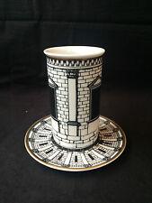 Antique vase on dish / untertasse  Rosenthal Fornasetti Palladiana Porcelain