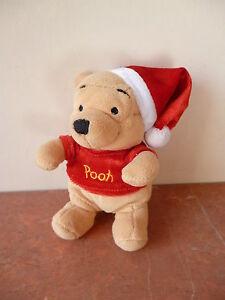 Winnie the pooh winnie l 39 ourson noel peluche disney - Winnie l ourson noel ...