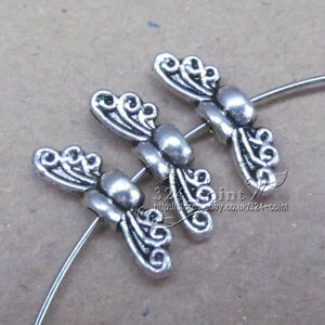 P038B-100pcTibetan-Silver-Angel-wings-Spacer-Bead-retro-Accessorie-Wholesale