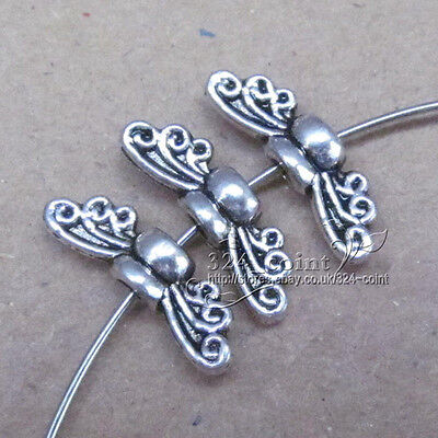 P038 30pcTibetan Silver Bee Angel wings Spacer Bead retro Accessorie Wholesale
