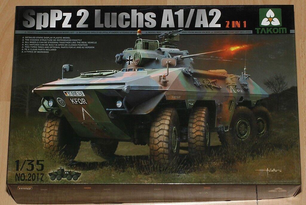 Takom 2017 1 35 Bausatz Spähpanzer Spähpanzer Spähpanzer SpPz2 Luchs A1 A2 der Bundeswehr    Üppiges Design  4d52ca