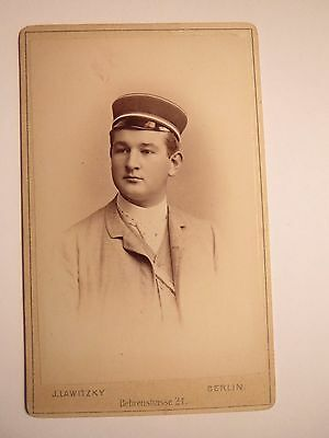 Treu Würzburg - Corps Nassovia - Kösen 1889 - Karl Senz - Cdv / Studentika