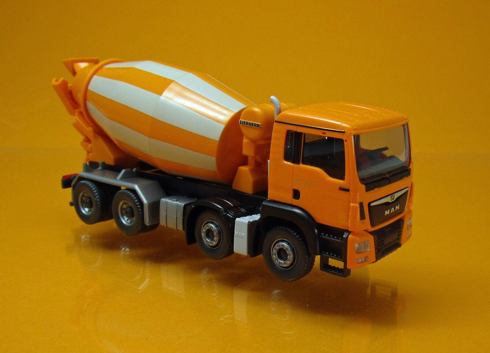 Wiking Wiking Wiking 068148 Man tgs euro 6 Liebherr conducción mezclador naranja scale 1 87 nuevo embalaje original 47a385