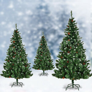 timeless design f9379 265c4 Details about 5ft 6ft 7ft Artificial Christmas Tree Cone Snow Covered Large  Xmas Trees Fence