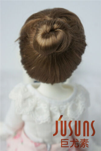 """Jusuns 7-8/"""" Roll Cake Up Style Doll Wigs MSD 1//4 Synthetic Mohair BJD Doll Hair"""