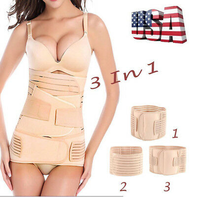 3 in 1 Postpartum Recovery Maternity Belly Wrap Girdles for Women/'s Body Shaper