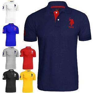 7dc43978cd5 Mens US Polo Assn Pique Short Sleeve Cotton T-shirt Original Shirt ...