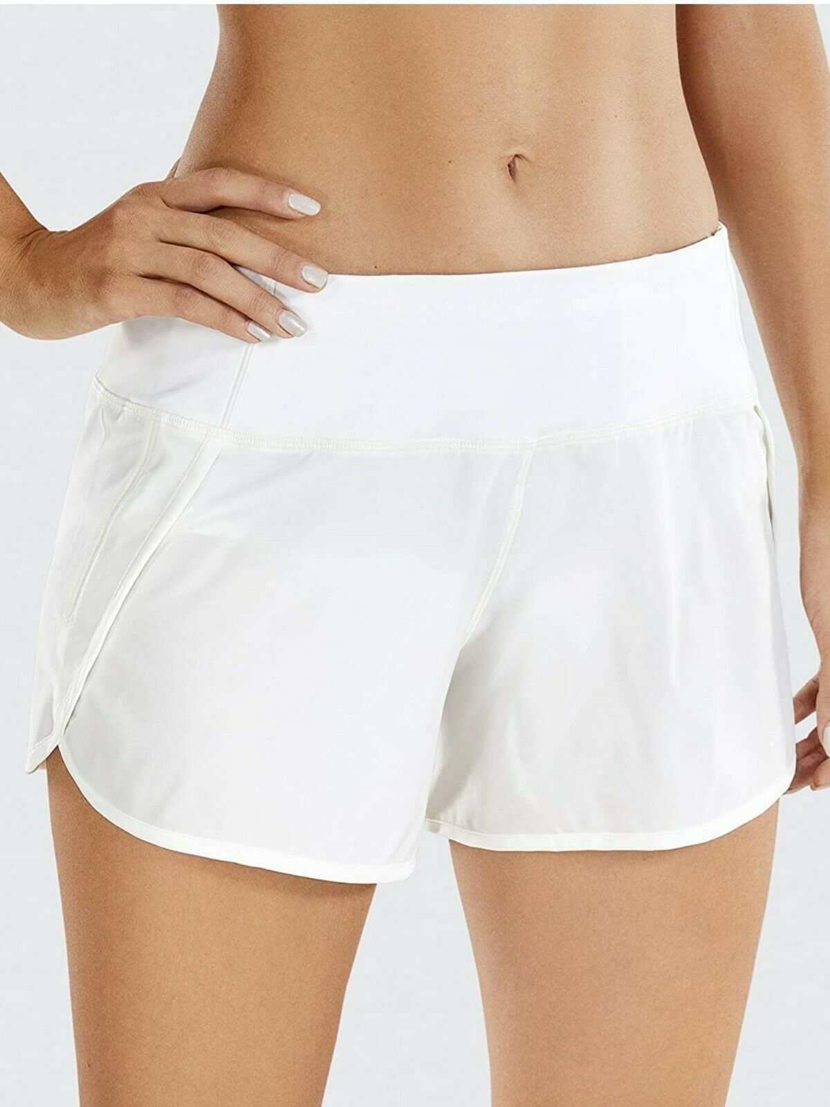CRZ YOGA Women's Quick-Dry Loose Running Shorts w/ Pockets -2.5