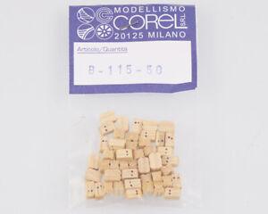 Corel B115 Crochet-Moufle 2 Yeux 5 MM (50 Pièces) Modélisme