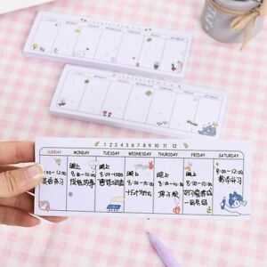 picture about Cute Weekly Planner titled Facts around Notice Sticker Sticky Lovely Office environment Kawaii Schedule Weekly Planner Notepads Memo Pad