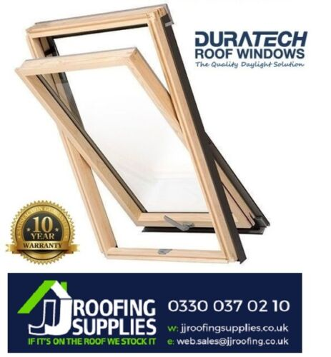Duratech Wooden Roof Windows Double Glazed 780 x 980mm Inc. Flashing