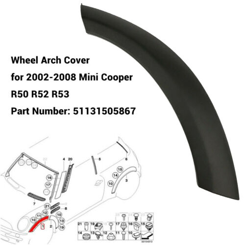 Radlauf Abdeckung Vorne Links 51131505867 Für Mini Cooper R50 R52 R53 02-08