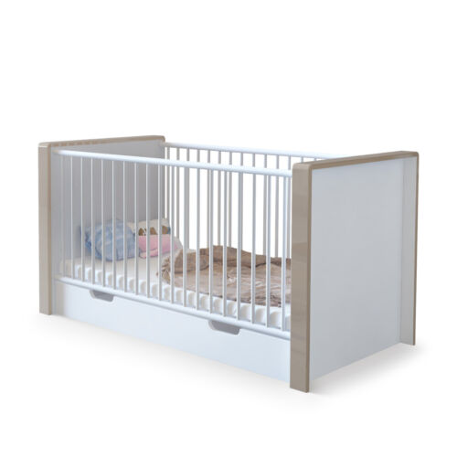 """Baby Crib convertible Bed Junior Children /""""Nandini/"""" in white"""