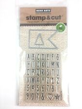 Clearly Kelly Hero Arts Alpha Tabs Clear Acrylic Stamp /& Cut Die Set DC181 NEW