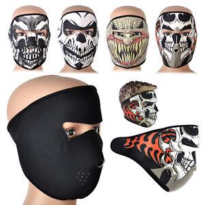 d3538d05 Image is loading Skull-Skeleton-Full-Face-Mask-Neoprene-Reversible- Motorcycle-