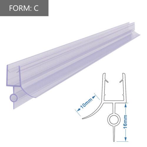 Duschdichtung Wasserabweiser Ersatzdichtung Duschprofil Duschtür 5// 6mm 8mm Glas