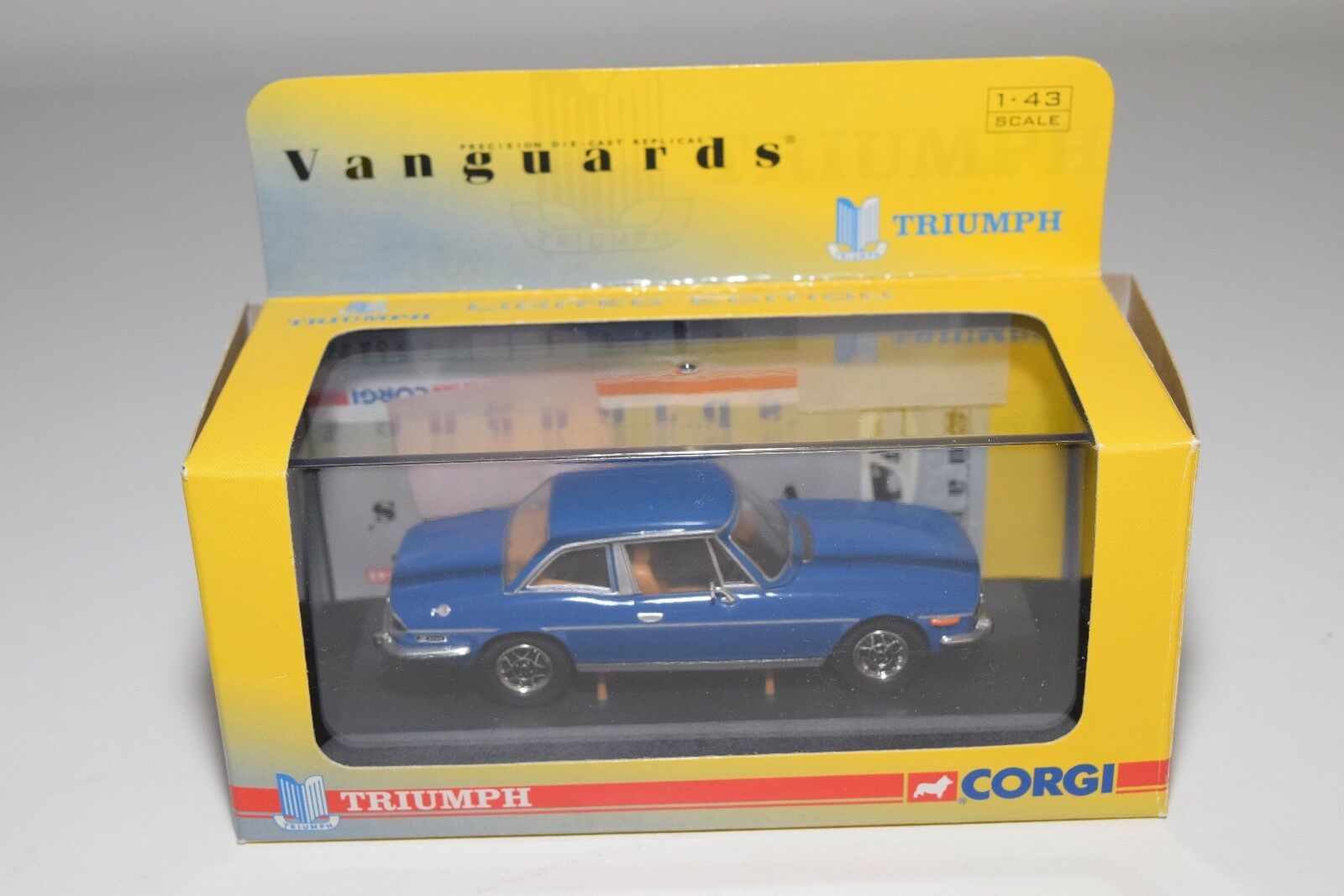 VANGUARDS VA10100 TRIUMPH STAG TAHITI bleu HARD TOP MINT BOXED