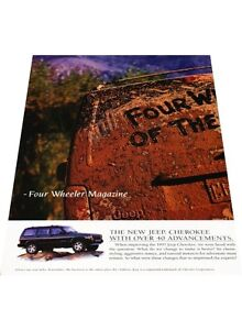 1997-Jeep-Cherokee-2-page-Vintage-Advertisement-Car-Print-Ad-J406